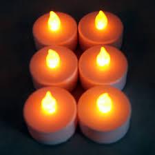 Home Decor Lighting Amazon Com Pack Of 6 Flameless Led Tea Lights White With Amber