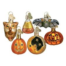 Halloween Tree Ornaments Amazon Com Old World Christmas Miniature Halloween Assortment