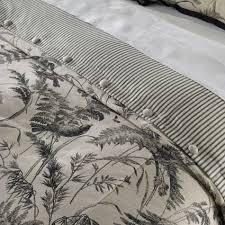 black and white bedding lisette toile duvet cover ethan allen