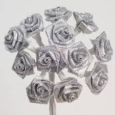 silver roses silver ribbon roses silver ribbon roses