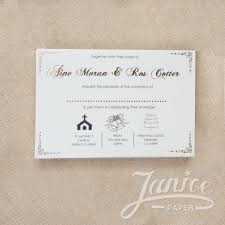 Wedding Invitation Insert Cards Foil Stamped Insert Cards Wholesale Wedding Invitations Wedding