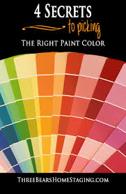 choose the right paint color three bears home staging