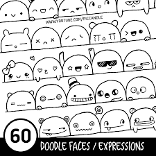 Sewing Machine Parts Diagram Worksheet 60 Cute Doodle Faces Expressions Printable Practice Sheets