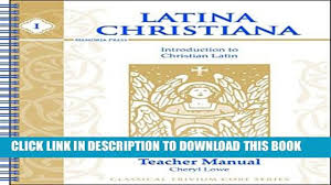 pdf latina christiana book i introduction to christian latin