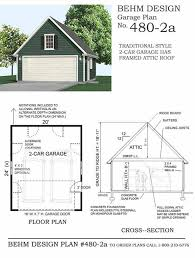 Car Plans by Garage Plans Car Compact Steep Roof Plan With Attic Including