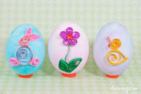 paper easter eggs quilled paper easter eggs chica and jo