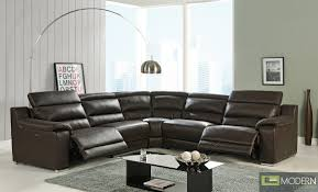 Grey Leather Sectional Sofa Furniture Amazing Leather Reclining Sectional Sofa Design