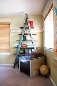 Diy Ladder Shelf Shelves Tutorials by 24 Ladder Bookshelf Plans Guide Patterns
