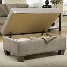 storage ottoman with tapered wood legs by smith brothers wolf