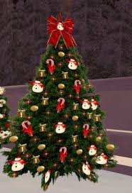 second marketplace tree 76 with twinkling gold