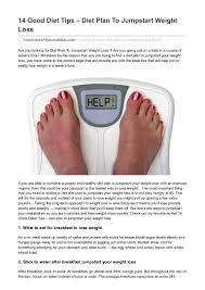 14 good diet tips u2013 diet plan to jumpstart weight loss