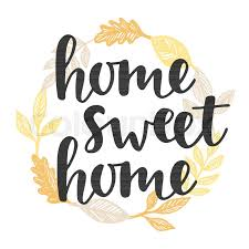 home sweet home decoration home sweet home quote in vintage golden wreath handwritten