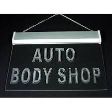 led lights for body shop hkk custom auto body shop led light sign tools home hardware