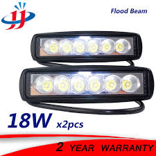 12 volt led lights waterproof 2 x 18w flood running lights for cars boat lighting tractor trailer