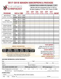 concert schedule the venice symphony
