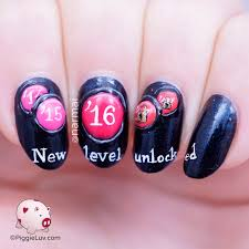 piggieluv 2016 new level unlocked new year u0027s nail art