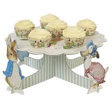 meri meri rabbit rabbit and friends cupcake stand