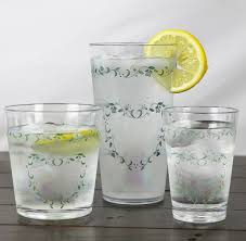 Corelle Country Cottage Glasses by Corelle Coordinates Country Cottage 14oz Acrylic Water Glass Set