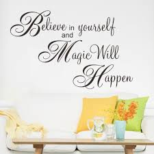 believe magic happen home decor creative quote wall decal