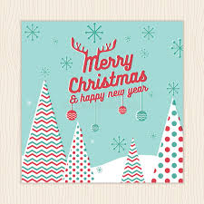 merry christmas happy new year card or poster template with
