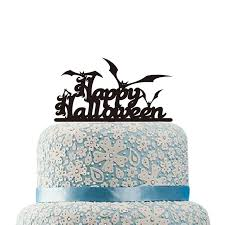 Halloween Cake Decorations Happy Halloween Cake Topper Halloween Bat Cake Topper Acrylic