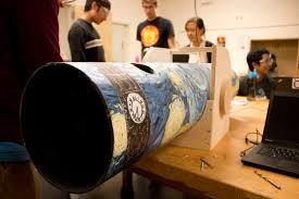 students learn to u0027beam u0027 in telescope building class college of