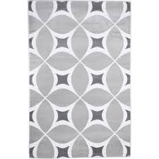Geometric Area Rug Interior Modern 8 Ft X 12 Ft Gray And White Geometric Area Rug