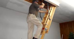 what are the warning signs of a dangerous attic pull down ladder