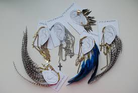 how to make feather ear cuffs index of wp content gallery 2010 09 brinco pena