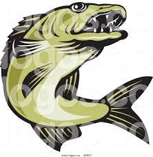 100 freegreen royalty free green walleye fish logo by