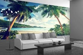 custom designed self adhesive wallpaper wall murals tropical