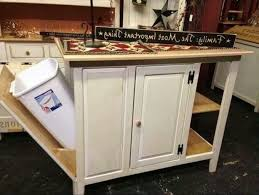 Butcher Block Kitchen Islands Kitchen Butcher Block Cart Kitchen Cart With Trash Bin