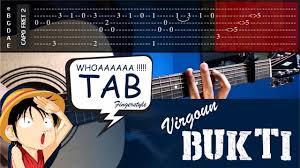 tutorial gitar lagu virgoun bukti virgoun bukti cover fingerstyle cover tabs tutorial tab