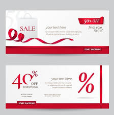 discount ribbon rec ribbon with discount sale banner vector vector banner free