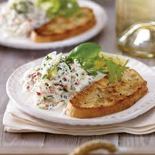 light and tasty magazine subscription crab salad with ciabatta toasts delicious magazine