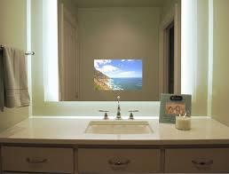 mirror bathroom tv sura illuminated television mirror contemporary bathroom with regard