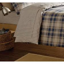 catherine lansfield tartan navy striped brushed cotton fitted