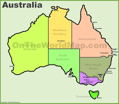 australia on map heat map