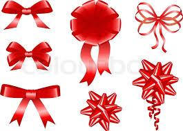 ribbons and bows ribbon bows stock vector colourbox