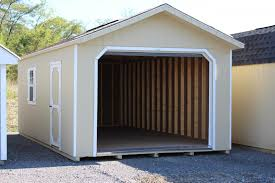 Beige Walls White Trim by Pine Creek 12x24 Hd Peak Garage Shed Sheds Barn Barns In