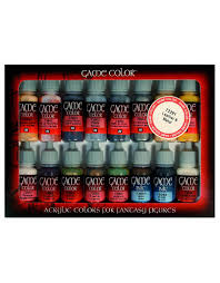 vallejo game color set leather and metal x16 goblin gaming