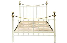 Brass Bed Frames Made To Order Furniture Hastings Ivory And Brass Bed Frame