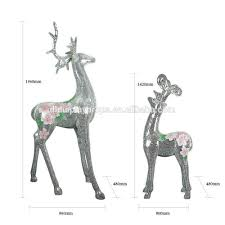 dl731 mosaic art display deer stand for home decoration christmas