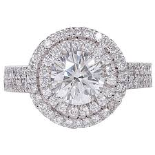 circle engagement ring certified halo engagement ring for sale at 1stdibs