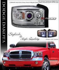 2007 dodge dakota lights for 2005 2007 dodge dakota chrome led halo rims projector