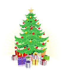 xmas stuff for simple christmas tree illustration clip art library