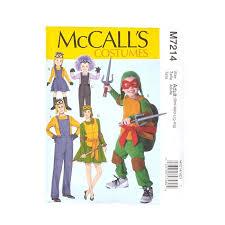 sewing pattern ninja costume mccall s children s boys girls minions costume pattern m7214