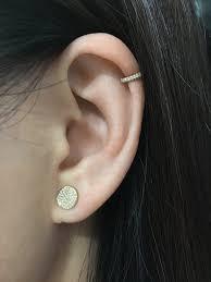 diamond ear cuff diamond helix ear cuff yellow gold j luu