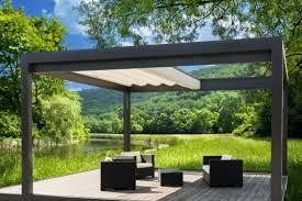 exterior summer landscape backyard canopy retractable canopy