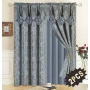 Valance And Drapes Curtains With Attached Valances